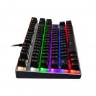 Механічна ігрова клавіатура з підсвічуванням Metoo Zero X51, світчі червоні - зображення 4