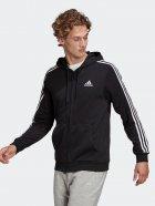 Толстовка Adidas M 3S Ft Fz Hd GK9032 2XL Black/White (4064045199279) - зображення 1