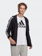 Толстовка Adidas M 3S Ft Fz Hd GK9032 S Black/White (4064045195547) - зображення 3