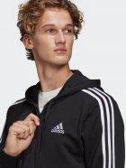 Толстовка Adidas M 3S Ft Fz Hd GK9032 S Black/White (4064045195547) - зображення 4