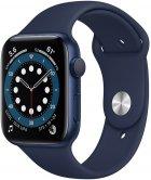 Смарт-часы Apple Watch Series 6 GPS 44mm Blue Aluminium Case with Deep Navy Sport Band (M00J3UL/A) - изображение 1