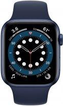 Смарт-часы Apple Watch Series 6 GPS 44mm Blue Aluminium Case with Deep Navy Sport Band (M00J3UL/A) - изображение 2