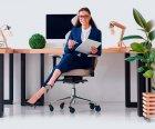 Сменные ролики STEALTHO для офисного кресла Barsky Rondi DxRacer GamerPro AKRacing AMF колесики черно-голубые 5шт, шток 11мм - изображение 6