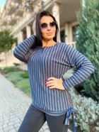 Джемпер DNKA р15112 50-52 Сине-коричневый (2000000516844) - изображение 2