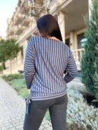 Джемпер DNKA р15112 50-52 Сине-коричневый (2000000516844) - изображение 3