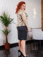 Костюм (платье + блуза) DNKA с41385 50 Черный с бежевым (2000000449692) - изображение 2