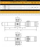 Приціл оптичний SIG Optics TANGO4, 1-4x24MM, 30MM, FFP, 556-762 HORSESHOE ILLUM, Black - зображення 4