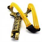 Компактная туристическая спортивная рогатка Konban на 3 жгута для охоты и спорта с компасом - изображение 1