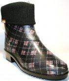 Жіночі гумові чоботи ALS 351-56-241 39 темно-сірий+коричневий+чорний ALS XA-3A 203 SB - зображення 5