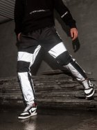 Спортивные штаны карго BEZET Black/Reflective' 21 1412 M Черные (ROZ6400031504) - изображение 2