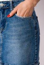 Спідниця джинсова 148P084 (Світло-синій) T&M M Розмір колір Світло-синій - зображення 5
