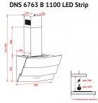 Витяжка PERFELLI DNS 6763 B 1100 IV LED Strip - зображення 10