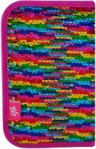 Пенал Yes Sequins твёрдый одинарный с двумя клапанами 1 отделение Разноцветный (532425) - изображение 2