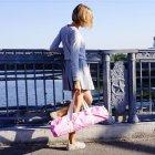 Сумка-чехол для йога коврика Foyo Pink 67x16 см Розовый с молочными ручками (01082) - изображение 7