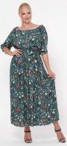 Платье VLAVI Снежанна 1239274 52 Зеленое - изображение 1
