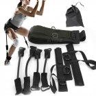 Тренажер еспандер Vertical High Jump Trainer з регульованими манжетами для рук і ніг для жінок і чоловіків - з регульованим ременем і м'яким поясом - універсальні, Чорний - зображення 1
