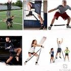 Тренажер еспандер Vertical High Jump Trainer з регульованими манжетами для рук і ніг для жінок і чоловіків - з регульованим ременем і м'яким поясом - універсальні, Чорний - зображення 5