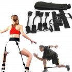 Тренажер еспандер Vertical High Jump Trainer з регульованими манжетами для рук і ніг для жінок і чоловіків - з регульованим ременем і м'яким поясом - універсальні, Чорний - зображення 6