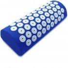Килимок + подушка (валик) аплікатор Кузнєцова Масажний масажер для спини/ніг OSPORT (apl-011) Синій - зображення 4