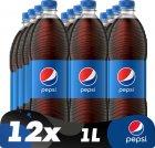 Напій безалкогольний сильногазований Pepsi Cola 1 л x 12 шт (4823063104227) - зображення 1