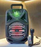 """Беспроводная аккумуляторная Bluetooth колонка Kimiso QS-4002 (8"""") с микрофоном и пультом - изображение 3"""