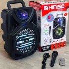 """Беспроводная аккумуляторная Bluetooth колонка Kimiso QS-4002 (8"""") с микрофоном и пультом - изображение 5"""