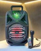 """Беспроводная аккумуляторная Bluetooth колонка Kimiso QS-4002 (8"""") с микрофоном и пультом - изображение 6"""