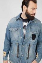 Чоловіча блакитна джинсова куртка D-SERLE Diesel L A01959 009SA - зображення 5
