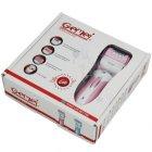 Эпилятор домашний женский 3 в 1 Gemei GM-3052 с подсветкой аккумуляторный 3 Вт эпиляция зоны бикини ног и подмышек + бритва триммер и пемза для пяток (48067 I) - изображение 8