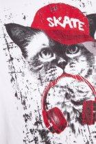Футболка Coccodrillo Everyday Cat WC1143204ECA-001 104 см Белая (5904705491260) - изображение 4