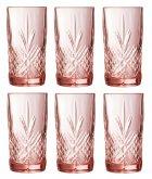 Набор высоких стаканов Luminarc Зальцбург Pink 6 шт х 380 мл (P9166/1) - изображение 1