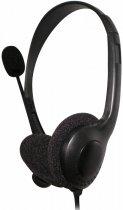 Навушники Fiesta MIC FIS1020 Stereo Usb Black - зображення 1