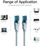 Патч-корд Vention CAT UTP5e Ethernet 0.75 м Blue (VAP-A10-S075) - изображение 3