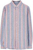Сорочка Pull & Bear 5470/520/400-ADFM M Синя з білим і червоним (DD3000002654949) - зображення 5