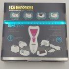 Епілятор жіночий 4 в 1 бритва пемза електробритва жіноча Gemei GM 7006 White (00427) - зображення 6