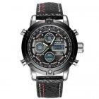 Часы наручные AMST 3022 Silver-Black Fluted Wristband - изображение 1