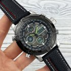 Часы наручные AMST 3022 Silver-Black Fluted Wristband - изображение 2
