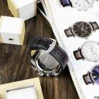 Часы наручные AMST 3022 Silver-Black Fluted Wristband - изображение 8
