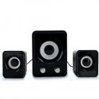 Компьютерные громкие комбинированные USB колонки для ПК, ноутбука, смартфона с акустической системой Hiraliy H1 Mini Speaker Стерео звук, Бас Чёрные с сабвуфером - изображение 3