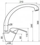 Кухонний змішувач GF (WHI)/S-03-012F - зображення 2