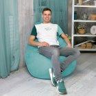 Крісло Мішок Груша Замша 150х100 Студія Комфорту розмір Великий Бірюзовий - зображення 5
