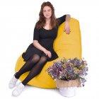 Крісло Мішок Груша Замша 150х100 Студія Комфорту розмір Великий Жовтий - зображення 2
