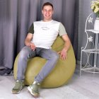 Крісло Мішок Груша Замша 150х100 Студія Комфорту розмір Великий зелений - зображення 4