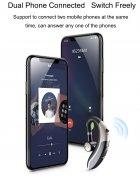 Гарнитура Bluetooth Earbuds V6 Silver - изображение 7