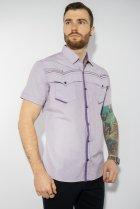 Рубашка в мелкую полоску Time of Style 199P0228 XL Сиренево-белый - изображение 1