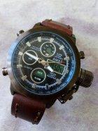Наручные армейские часы АМСТ (AMST) коричневые - изображение 2