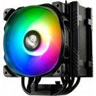 Кулер процессорный Enermax ETS-T50 AXE ARGB (ETS-T50A-BK-ARGB), Intel: 2066/2011-3/2011/1200/1150/1151/1155/1156/1366/775, AMD: FM1/FM2/FM2+/AM2/AM2+/AM3/AM3+/AM4, 160x138.7x112.5мм, черный, 3 pin, 4-pin - изображение 1
