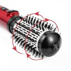 Вращающаяся расческа для брашинга фен-щетка стайлер Gemei с двумя насадками 800Вт Черно-красный (GM-4829) - изображение 4