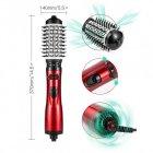Вращающаяся расческа для брашинга фен-щетка стайлер Gemei с двумя насадками 800Вт Черно-красный (GM-4829) - изображение 9