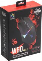Миша A4 Tech W60 Max Bloody (Stone black) ігрова Bloody Activated, RGB, 10000 CPI, 50M натискань, чорна - изображение 2